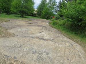 Flatrock is named after this rock and is on the little side road behind Davis-Merchant Equipment.