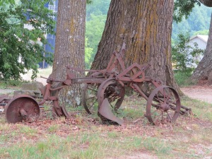 Old farm equipment resting in peace on the Cosby Farm.